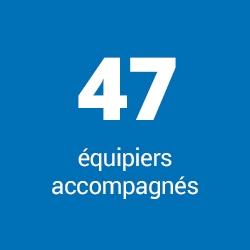 47 équipiers accompagnés