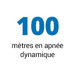 100 mètres en apnée dynamique