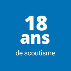 18 ans de scoutisme