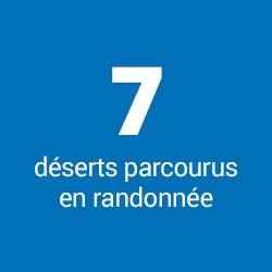 7 déserts parcourus en randonnée