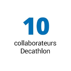 10 collaborateurs Decathlon