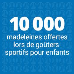 10000 madeleines offertes lors de goûters sportifs pour enfants