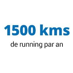 1500 kms de running par an
