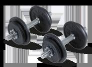 Laura Renaud : Kit haltères musculation kit 20 kg Domyos : 39,00 euros