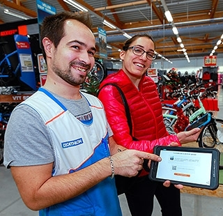 Decathlon Team Marque Employeur Digital Tablette